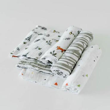 LITTLE UNICORN FOREST FRIENDS COTTON MUSLIN SWADDLE 3 PACK