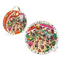 JANOD ROUND OBSERVATION PUZZLE- GALLOPING HORSES 208 PCS
