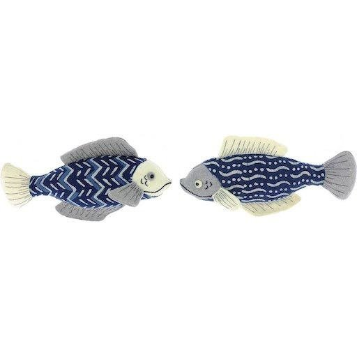 FIONA WALKER FIONA WALKER ENGLAND PAIR OF FISH WALL DECOR