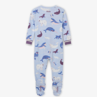 HATLEY POLAR CRITTERS ORGANIC COTTON FOOTED COVERALL