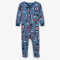 HATLEY PAPER PLANES ORGANIC COTTON FOOTED COVERALL
