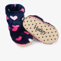 HATLEY LOVEY HEARTS FLEECE SLIPPERS