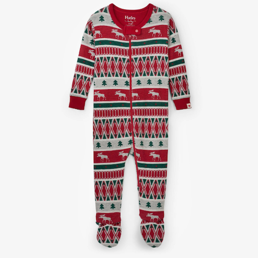 HATLEY WINTER FAIR ISLE ORGANIC COTTON FOOTED COVERALL