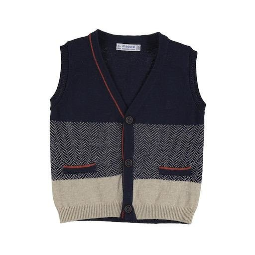 MAYORAL USA DARK BLUE KNIT VEST