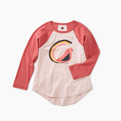 TEA QUIL TAIL GRAPHIC RAGLAN TEE