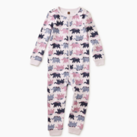 TEA PATTERNED LONG SLEEVE BABY PAJAMAS