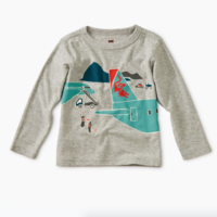 TEA PLANE TRIP GRAPHIC BABY TEE