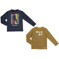 MAYORAL USA L/S STRIPED T-SHIRT SET