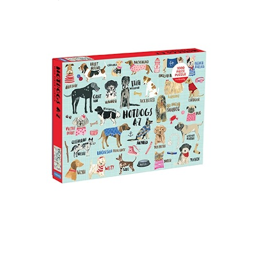 CHRONICLE BOOKS HOT DOGS A-Z 1000 PIECE PUZZLE