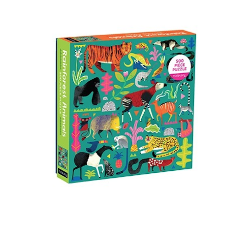 CHRONICLE BOOKS RAINFOREST ANIMALS 500 PIECE PUZZLE