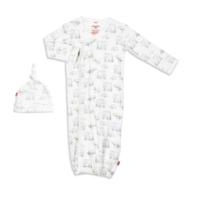 MAGNIFICENT BABY LE ENFANT ORGANIC COTTON MAGNETIC GOWN SET