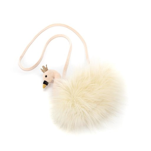 JELLYCAT INC FLUFFY FANCY SWAN BAG