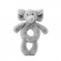 JELLYCAT INC BASHFUL ELEPHANT RING RATTLE