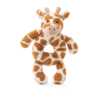 JELLYCAT INC BASHFUL GIRAFFE RING RATTLE