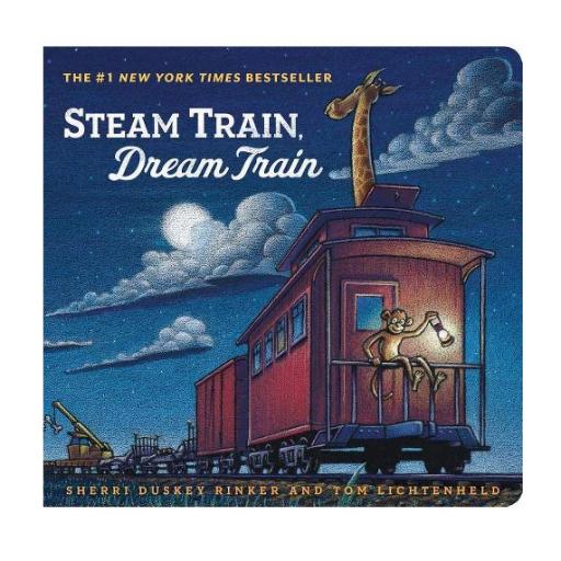 HACHETTE MUDPUPPY STEAM TRAIN, DREAM TRAIN BOARD BOOK