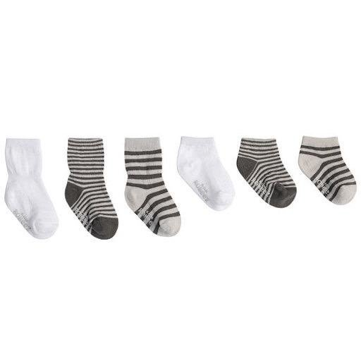 ROBEEZ GREY ESSENTIALS SOCKS, 6-PACK