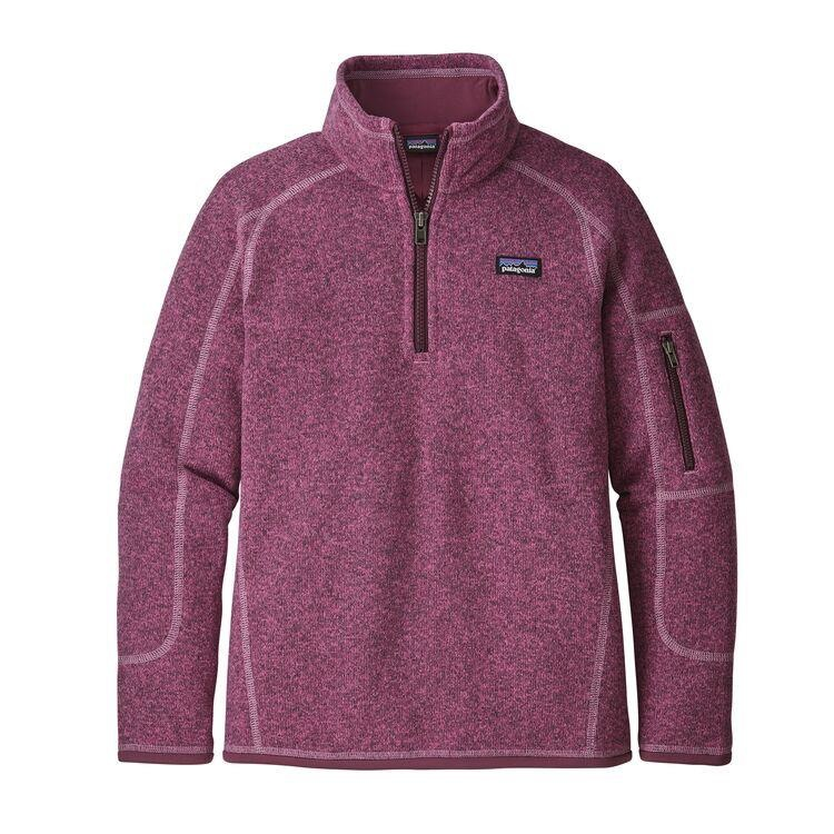 PATAGONIA PATAGONIA GIRLS' BETTER SWEATER 1/4 ZIP  FLEECE