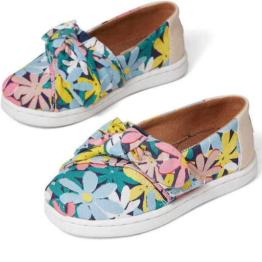 TOMS SHOES MULTI GIANT FLOWER BOW TOMS CLASSIC