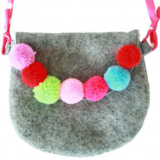 EVERBLOOM EVERBLOOM GRAY POMPOM PURSE