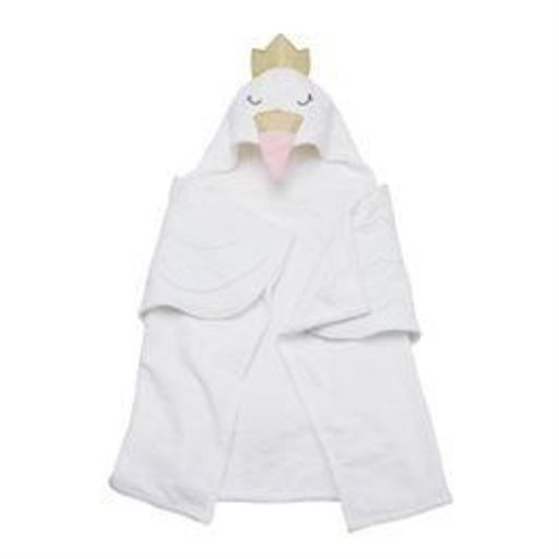 MUD PIE SWAN HOODED TOWEL