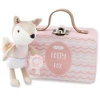 MUD PIE PINK HOORAY POTTY FOX-IN-A-BOX SET