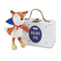 MUD PIE BLUE BRAVE FOX-IN-A-BOX