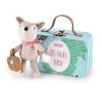 MUD PIE PINK ADVENTURE TRAVEL FOX-IN-A-BOX SET