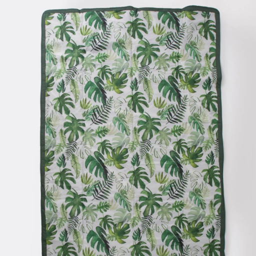 LITTLE UNICORN TROPICAL LEAF OUTDOOR BLANKET 5X7