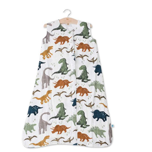 LITTLE UNICORN DINO FRIENDS COTTON MUSLIN SLEEP BAG