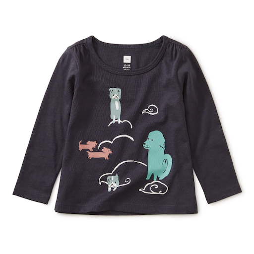 TEA ANIMAL CLOUDS GRAPHIC TEE