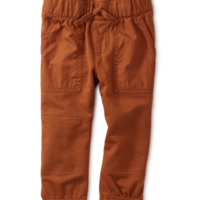 TEA BABY WOVEN PATCH POCKET JOGGERS