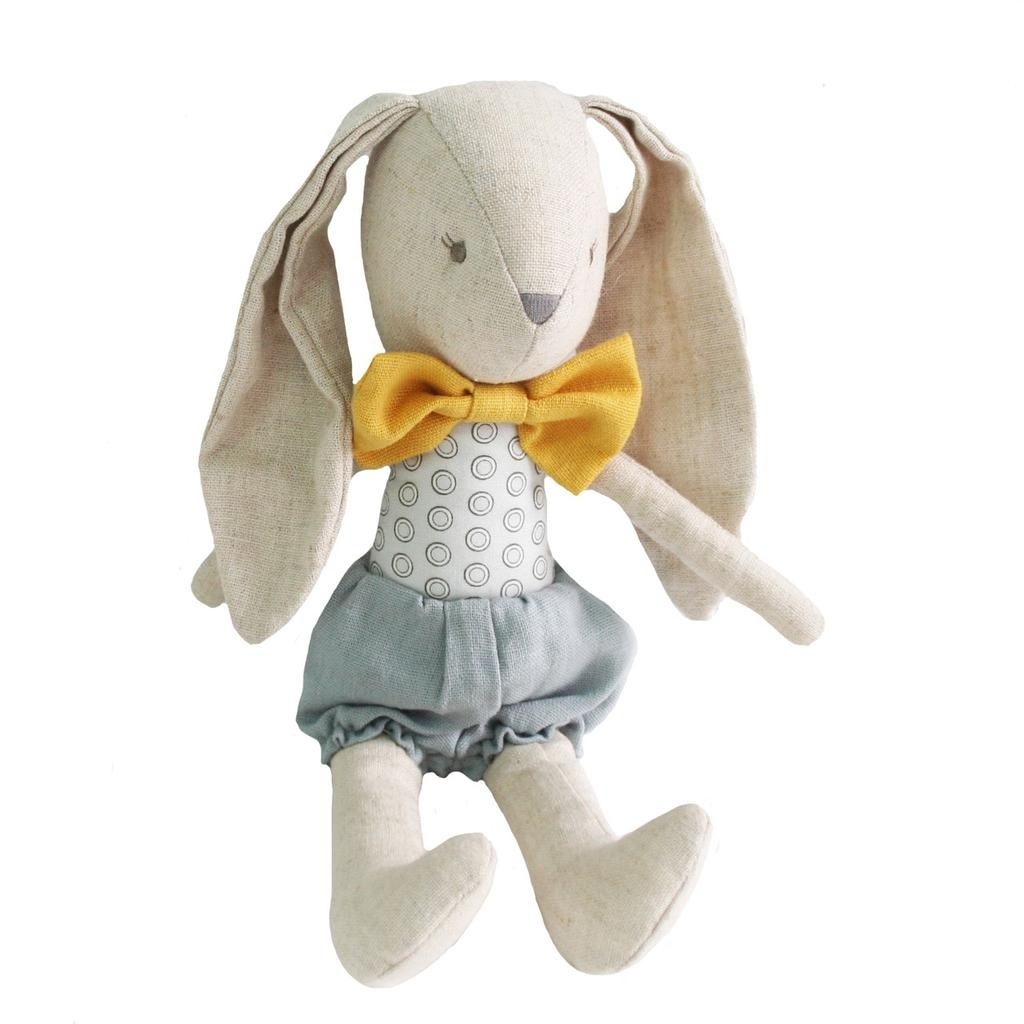 ALIMROSE BABY HARRY BUNNY GREY BUTTERSCOTCH