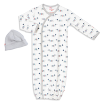 MAGNIFICENT BABY SWEATER WEATHER ORGANIC COTTON MAGNETIC GOWN SET