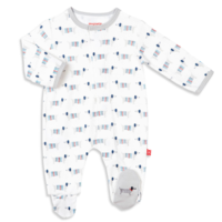 MAGNIFICENT BABY SWEATER WEATHER ORGANIC COTTON MAGNETIC FOOTIE
