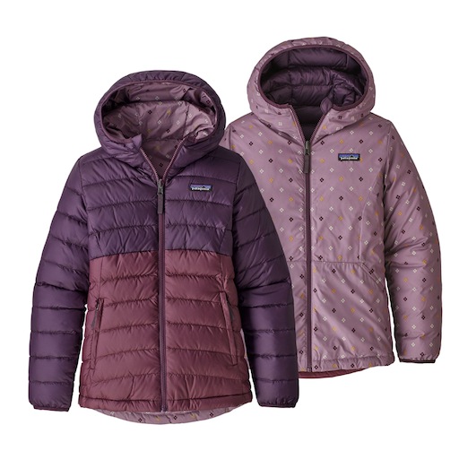 PATAGONIA PATAGONIA GIRLS' REVERSIBLE DOWN HOODY JACKET