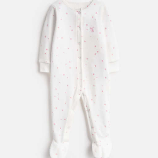JOULES COSMO VELOUR PRINTED BABYGROW