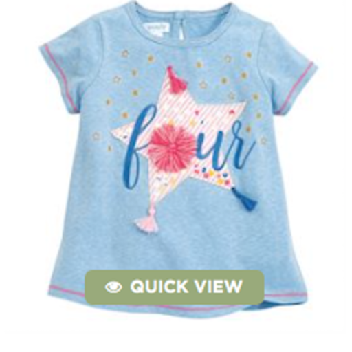 MUD PIE FOUR BIRTHDAY TEE