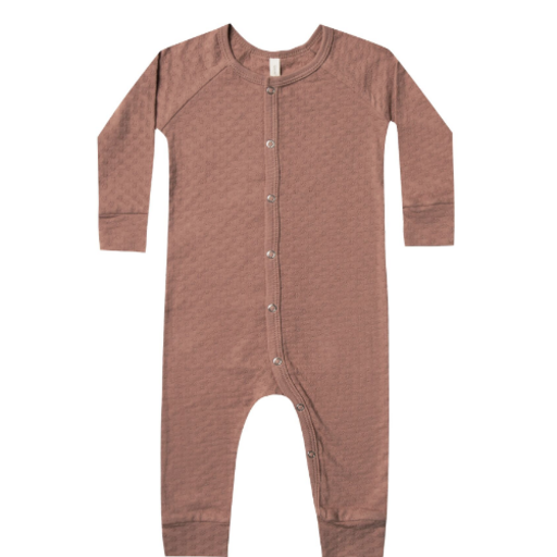 QUINCY MAE ORGANIC POINTELLE LONG JOHN COVERALL
