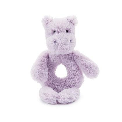 JELLYCAT INC BASHFUL HIPPO RING RATTLE