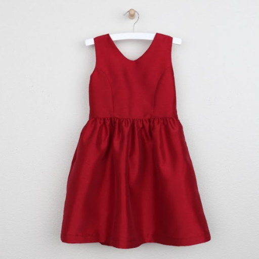 GABBY TAFFETA BOW DRESS