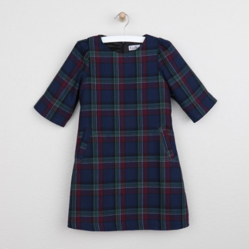 GABBY HOLLY PLAID A-LINE DRESS