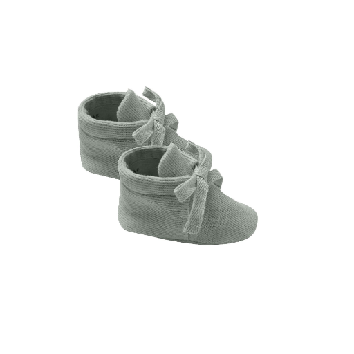 QUINCY MAE ORGANIC RIBBED BABY BOOTIES