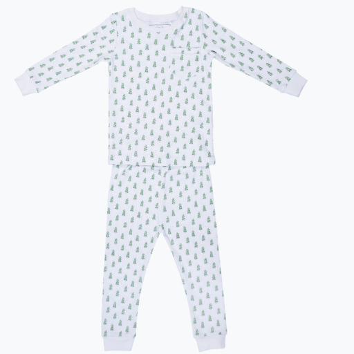 LILA + HAYES BRADFORD  2 PC PAJAMA SET WITH PIPED POCKET
