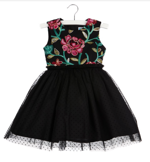LULI & ME EMBROIDERY TULLE DRESS