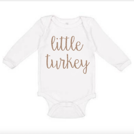 SWEET WINK SWEET WINK LITTLE TURKEY ONESIE