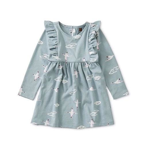 TEA CRANE CLOUD RUFFLE DRESS