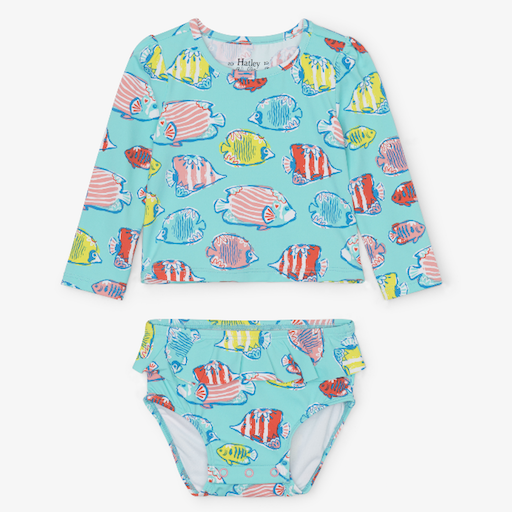 HATLEY COLORFUL FISHES BABY RASHGUARD SET