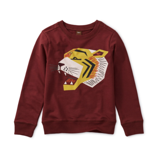 TEA EMBROIDERED TIGER PULLOVER