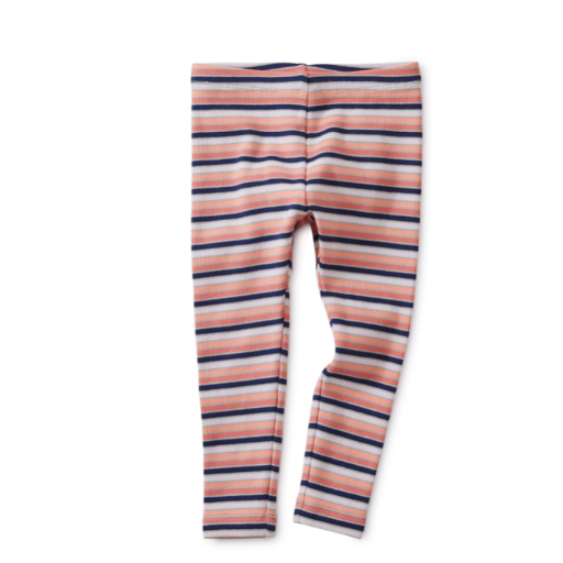 TEA STRIPED RIBBED BABY LEGGINGS