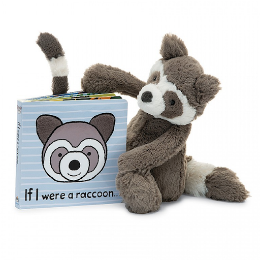 JELLYCAT INC IF I WERE A RACCOON BOARD BOOK